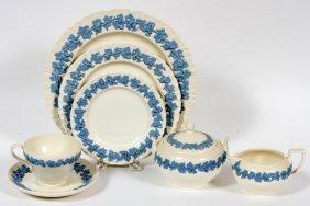 Wedgwood 'embossed Queen's Ware' Dinner Set 62 Pcs
