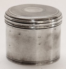 English Sterling Patch Box London C. 1820