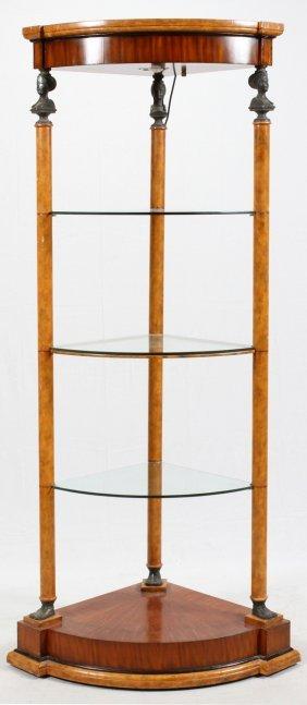 Art Deco Egyptian Revival Style Corner Cabinet