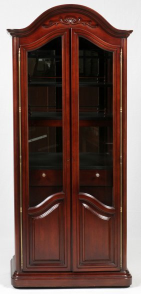 Mahogany Two-door Curio Cabinet