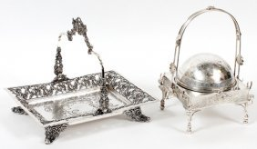 Reed & Barton Silverplate Butter Dome &serving Tray