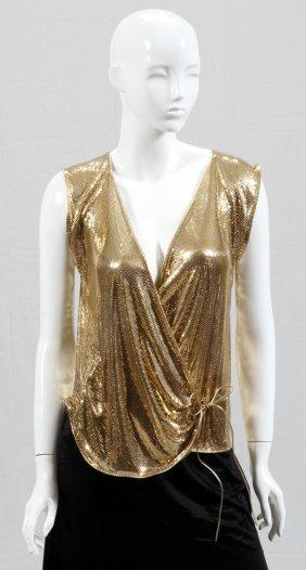 Whiting & Davis Gold Mesh Vest