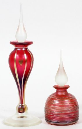 Correia Glass Perfume Bottles Two