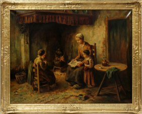 Cornelis Bouter Oil On Canvas