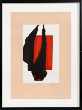 Robert Motherwell Lithograph In Color 1981 #16/150