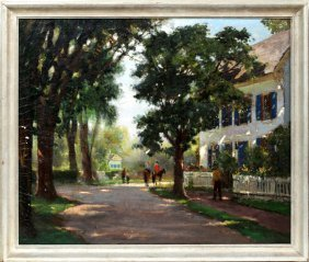 Anthony Thieme Oil On Canvas