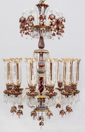 Murano Twelve-light Glass Chandelier