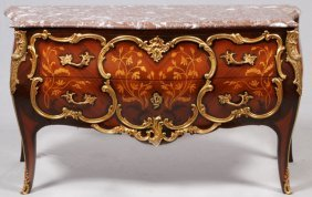 Louis Xv Style Bronze Mounted Commode