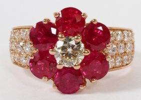 2.88ct Ruby And 1.71ct Diamond Ring
