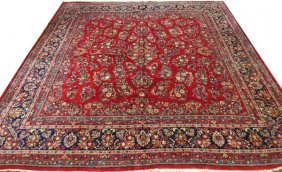 Sarouk Persian Fine Carpet Semi Antique