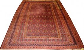 Bijar Persian Wool Rug Semi-antique