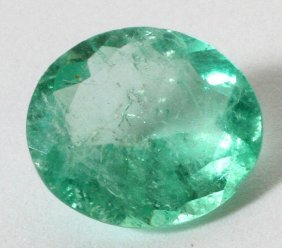 Colombian Emerald Oval Cut Stone