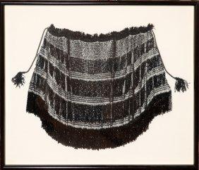 Black Beaded Shawl 20th C.