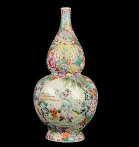 Double Gourd Famille Rose Vase, Early 20th Century