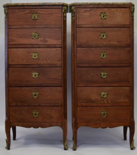 Pair Of French Louis Xv Bedside Cabinets