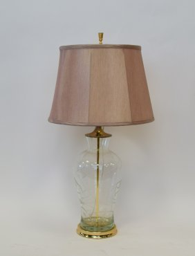 Clear Glass Lamp With Metal Base