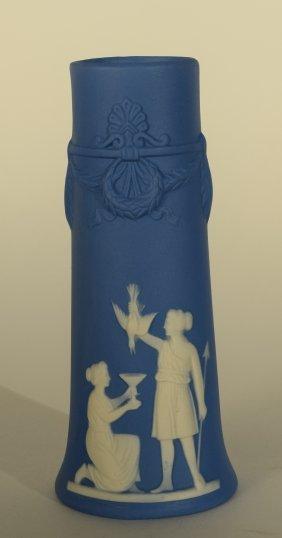 Jasper Ware Blue Vase
