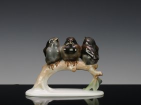 Figurine Of Three Sparrows