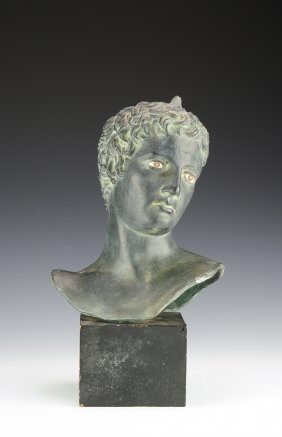 Hellenistic Style Terracotta Bust
