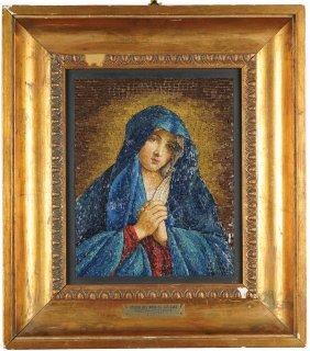"""madonna Addolorata"", Mosaic By Valentina"