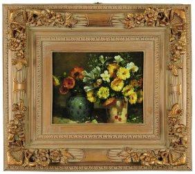 Still Life Of Flowers, Print On Canvas