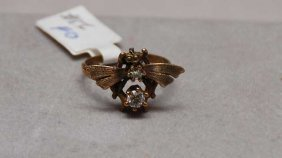 Fly Ring Set With Two Old Cut Diamonds, 2.5 And 3