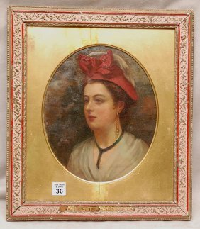 19th Century French School, Oil On Canvas Laid Do