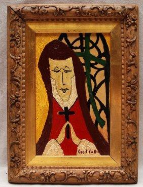 CECIL COLLINS, British 1908 � 1989,�Woman Praying�