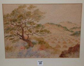 Maynard Dixon (AMERICAN, 1875-1946) Watercolor, Ro
