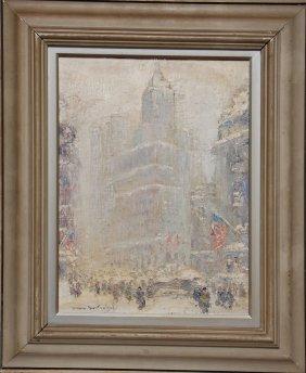 Johann Berthelsen (American 1883 - 1972) Oil On Can