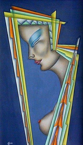 GUSTAV KAITZ (AMER. 1913-1992) SENSUAL ART DECO PAI