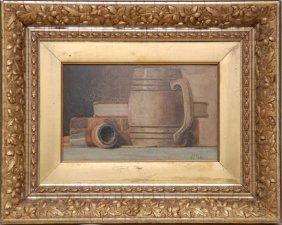 John Frederick Peto (American 1854 - 1907) Oil On