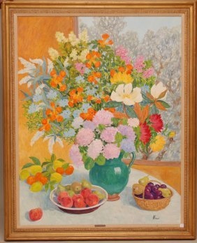 Marie-Lucie Nessi-Valtat (FRENCH, 1900-1992) Oil On