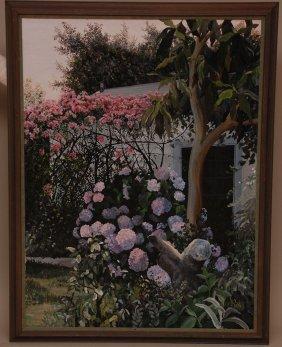Susan Rios (AMERICAN, 1950) Oil On Canvas, Garden By