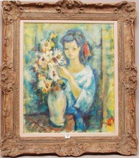 Boris Simon (Rus/French Born 1923)  Oil On Canvas