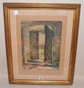 Louis Aston Knight (american, 1873-1948) Watercolor,