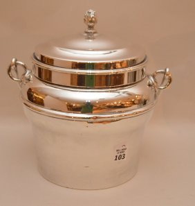 "Cartier Silver Plate Ice Bucket 11""h"