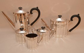 5 Piece Lunt Silver Plated Tea & Coffee Service.