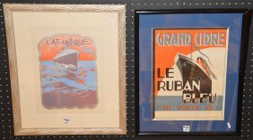 2 Small Boat Advertisements, L'atlantique & Grand
