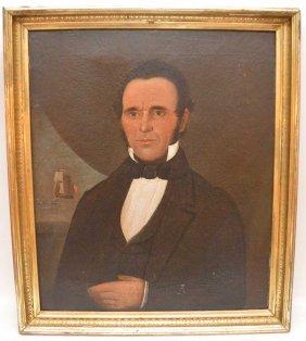 William Prior (american 1806 - 1873) Portrait Of Capt.