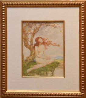 Willy Pogany Illustrator Ny 1882 - 1955, Watercolor On