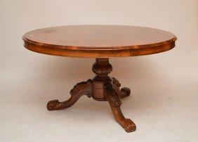 "Regancy Round Carved Dining Table 53"" Diameter"