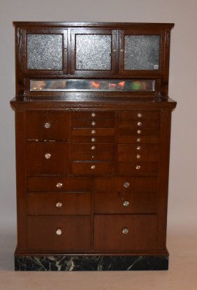 "Vintage Multi Drawer Dental Cabinet, 63""h X 40""w X 13""d"