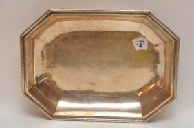 Octagonal Shape Sterling Continental Serving Dish With