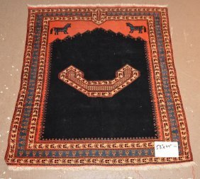 "Persian Carpet/horse Bag, 53"" X 44"""