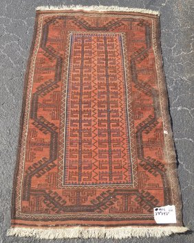 Carpet, Caucasian Wide Border With Central Panel,