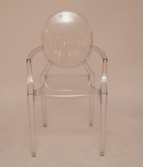 "Lucite ""ghost"" Arm Chair"