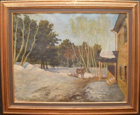 Russian Painting Attributed To Isaac Ilyitch Levitan