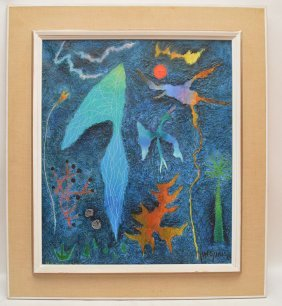 Yohanan Simon (israeli, 1905-1976) Oil On Canvas,