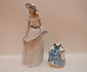 2 Porcelain Figures, Royal Doulton & Lladro